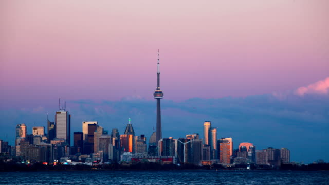 Day to night timelapse in Toronto video