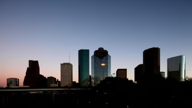 Day to night timelapse of Houston, Texas