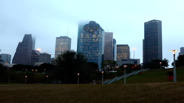 Day to night timelapse of the Houston skyline