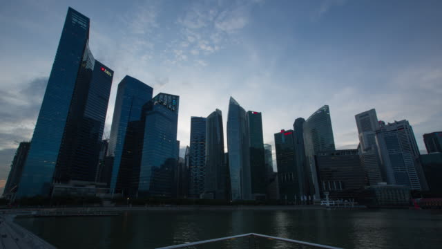 4K Day to night Time-lapse: Singapore Cityscape Marina Bay video