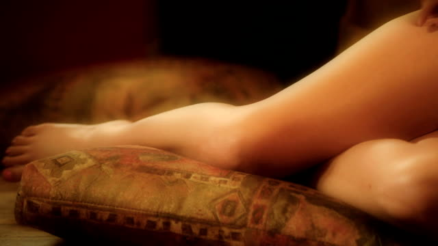daydreaming on the floor - cleavage stock videos & royalty-free footage
