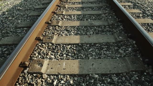 Daylight shot of Railroad tracks video