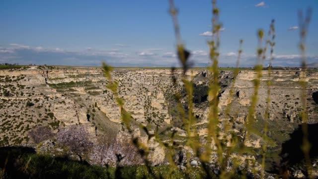 Daylight view of Ulubey canyon Usak Turke Daylight view of Ulubey canyon Usak Turke canyon stock videos & royalty-free footage
