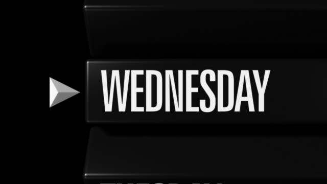 Days of Week Selector Passing 01 Close Loop video