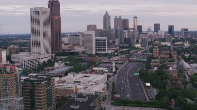 Daytime aerial shot of downtown Atlanta. - video