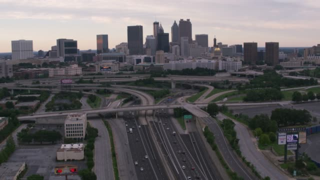 Daytime aerial shot of downtown Atlanta. video