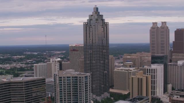 Daytime aerial shot of downtown Atlanta. video