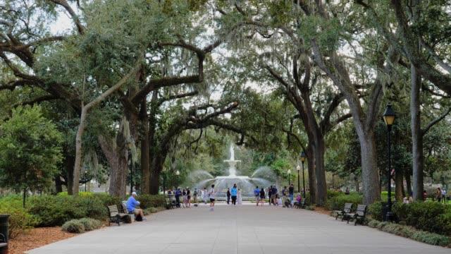 Journée création coup de Forsyth Park à Savannah - Vidéo