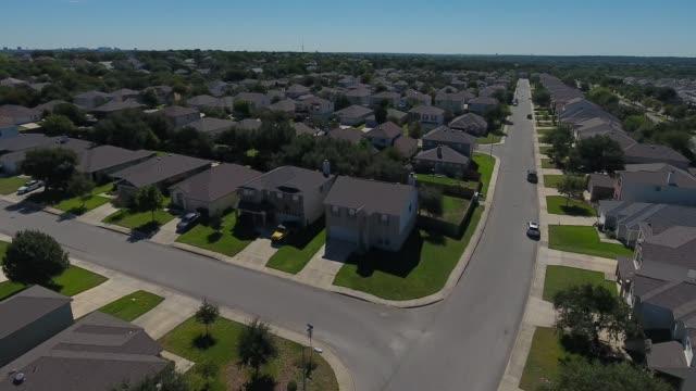 Daytime Rising Aerial of San Antonio Texas Neighborhood video