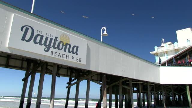 Daytona Beach Pier The iconic Daytona Beach Pier in Florida florida us state stock videos & royalty-free footage