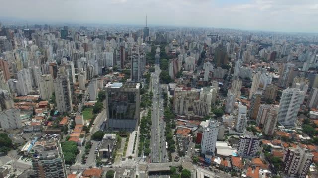 23 de Maio - Aerial view of Sao Paulo, Brazil Aerial view of Sao Paulo, Brazil são paulo state stock videos & royalty-free footage