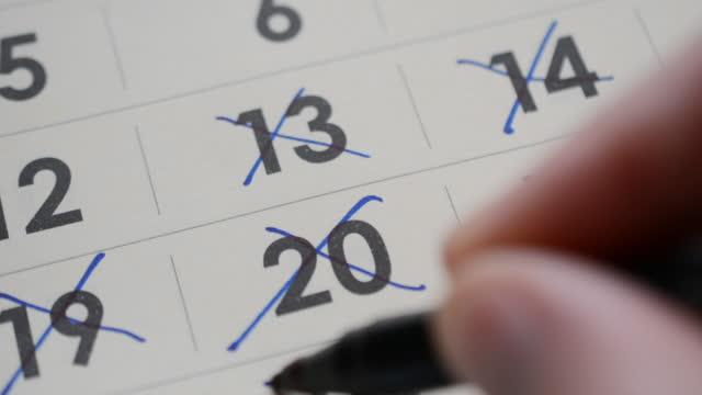 deadline concept, calendar page organizer video
