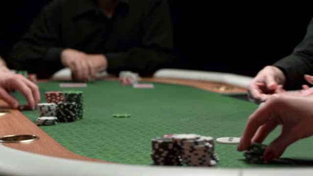 HD DOLLY: Dealing Cards For Texas Hold 'Em Poker Game video