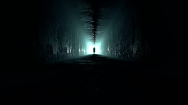 死亡在走廊上以慢動作,3d動畫 - 絕望 個影片檔及 b 捲影像