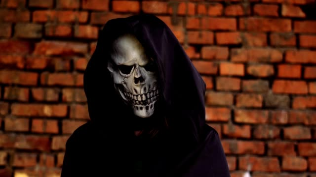death in hood and black cloak