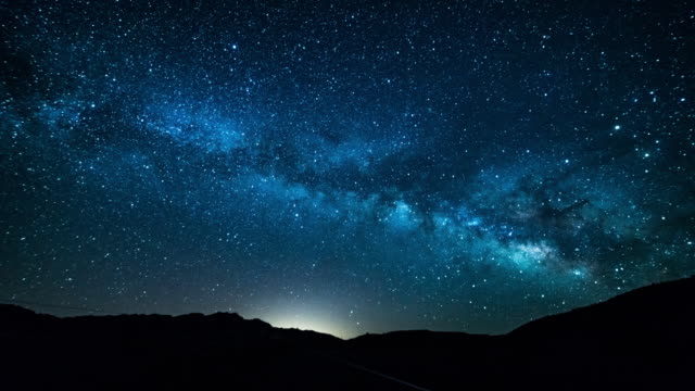 Death Valley Milky Way time lapse 4K video