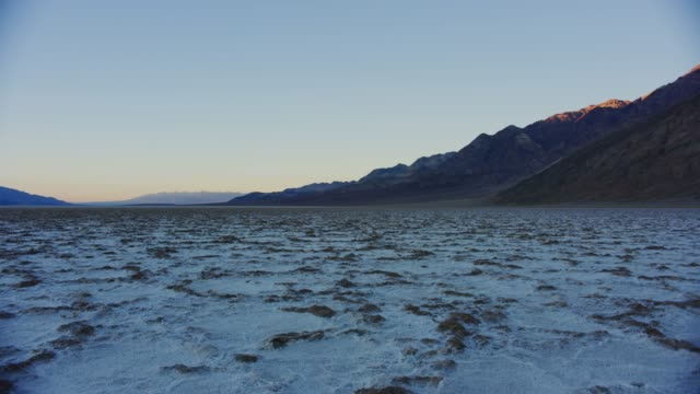 Death Valley National Park Timelapse during sunset at Badwater Basin in Death Valley National Park, California salt flat stock videos & royalty-free footage