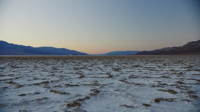 Death Valley National Park Sunset at Badwater Basin in Death Valley National Park, California salt flat stock videos & royalty-free footage