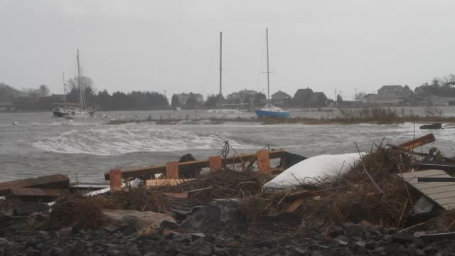 Debris from Hurricane Sandy video