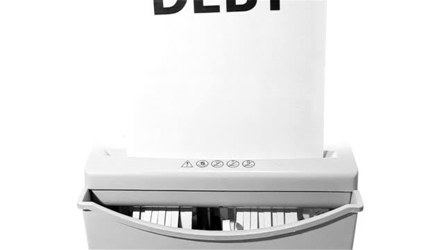 Debt goes through a shredder video