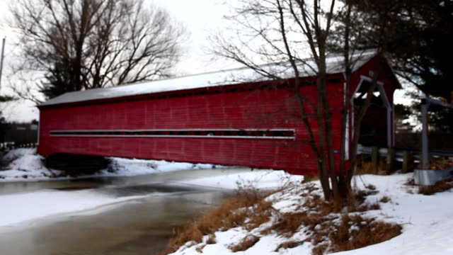 Decelle Covered Bridge in Quebec, Canada video
