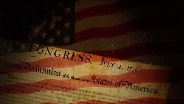 Declaration of Independence, USA Flag  independence stock videos & royalty-free footage