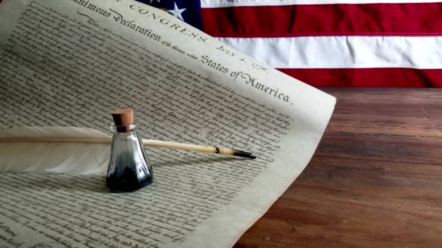 declaration of independence - usa - 4th of july stock videos and b-roll footage