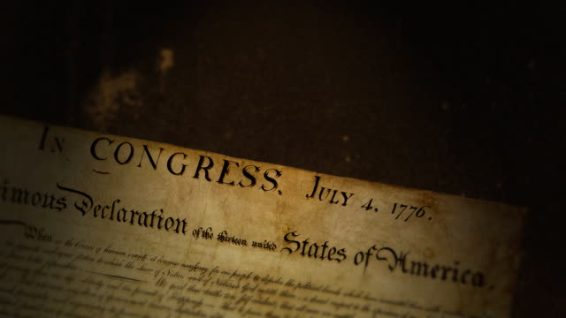 Declaration of Independence  independence stock videos & royalty-free footage