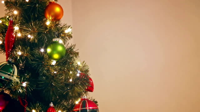 Decorated Christmas Tree with Presents video