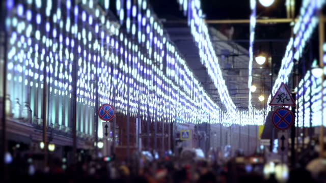 Decorated street - New Year Eve video