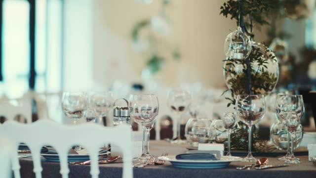 Decorated wedding table video