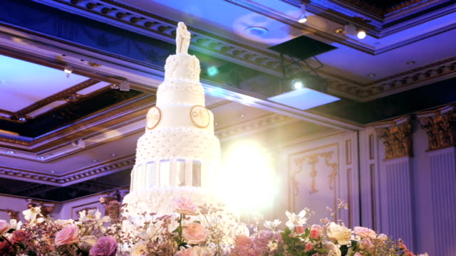 Decorating a Cake Wedding Cake large stock videos & royalty-free footage