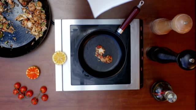 Decorating prepared paella video