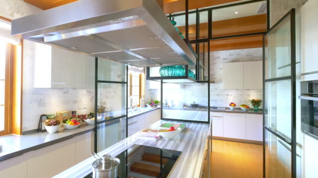 decoration and design of modern kitchen - kitchen situations video stock e b–roll