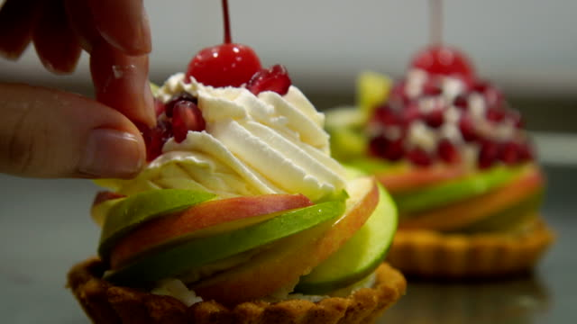 Decoration fruit cake,close up