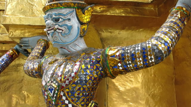 Decoration in Temple of Emerald Buddha video
