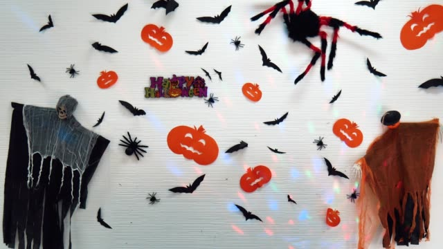 Decoration of the decor in Halloween.