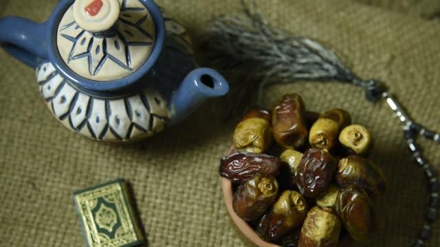decoration ramadan kareem holiday background - фанус стоковые видео и кадры b-roll