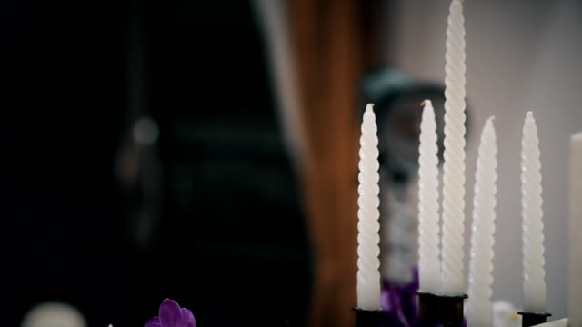 Decorative Candles and Cake for Wedding Party video