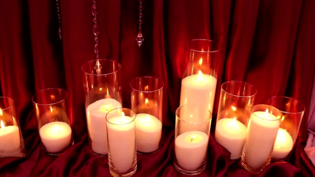 Decorative candles, new year, christmas, new year decorations, dioctration at a New Year's party