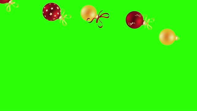 dekorativa julelement animation grupp på grön skärm chroma nyckel - christmas frame bildbanksvideor och videomaterial från bakom kulisserna