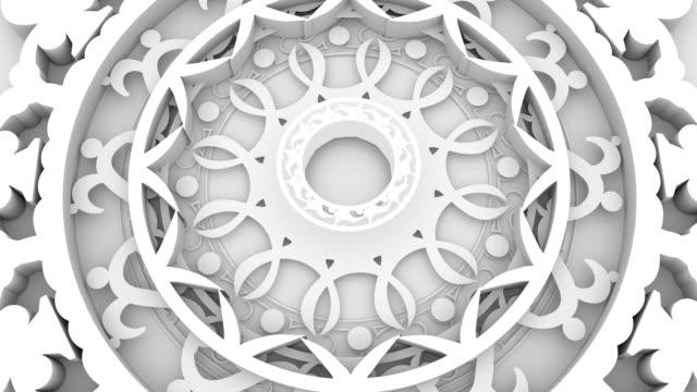 dekorativ design element roterande - mandala bildbanksvideor och videomaterial från bakom kulisserna