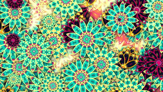 dekorativa blommiga bakgrunder - blommönster bildbanksvideor och videomaterial från bakom kulisserna