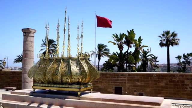 Decorative metal and Morocco Flag video