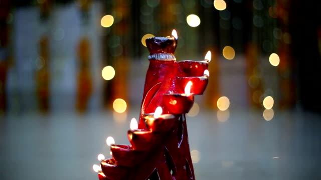 Decorative oil lamp on Diwali Festival