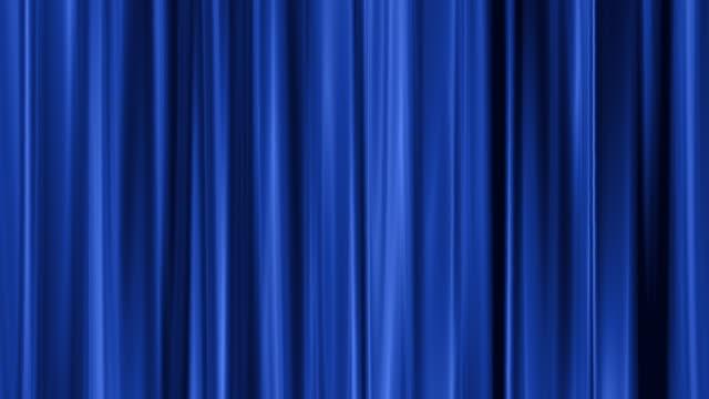 vídeos y material grabado en eventos de stock de cortina azul profundo - cortina