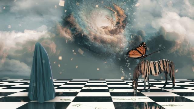deep imagination - сюрреалистический стоковые видео и кадры b-roll