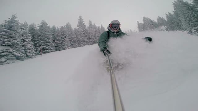 Deep Moody Powder Snowboarding video