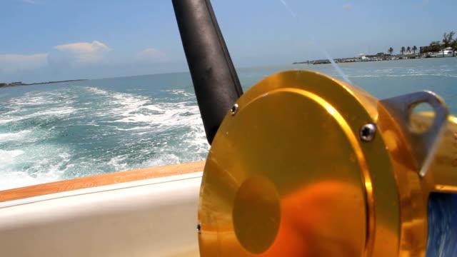 Deep Sea Fishing Rod on Moving Boat
