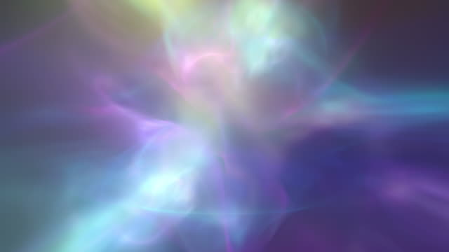 deep space ethereal heavenly cloudscape background loop - paradiso video stock e b–roll